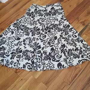 100% linen hawaiian print flowy maxi skirt